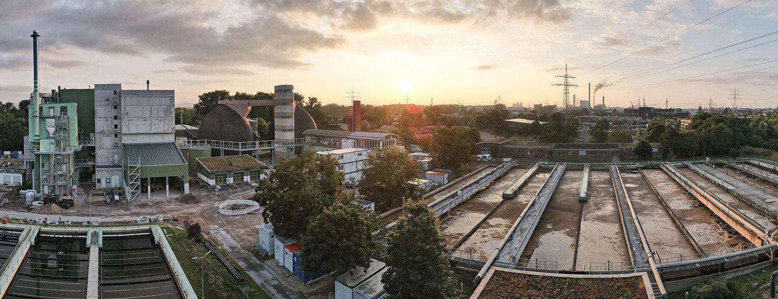 Panorama der Kläranlage